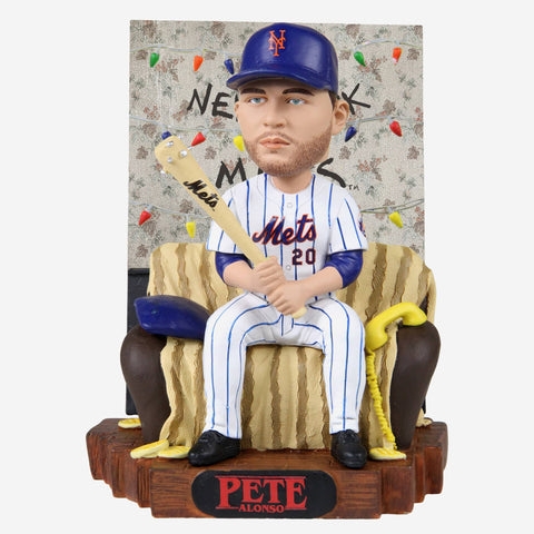 Pete Alonso New York Mets Stranger Things Alphabet Wall Bobblehead