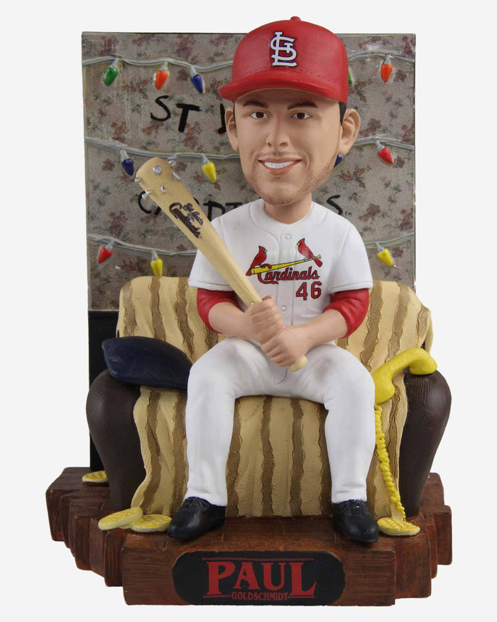 Paul Goldschmidt St Louis Cardinals Stranger Things Alphabet Wall Bobblehead FOCO - FOCO.com