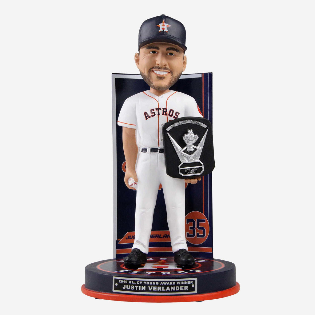 Justin Verlander Houston Astros 2019 American League Cy Young Award Bobblehead FOCO - FOCO.com
