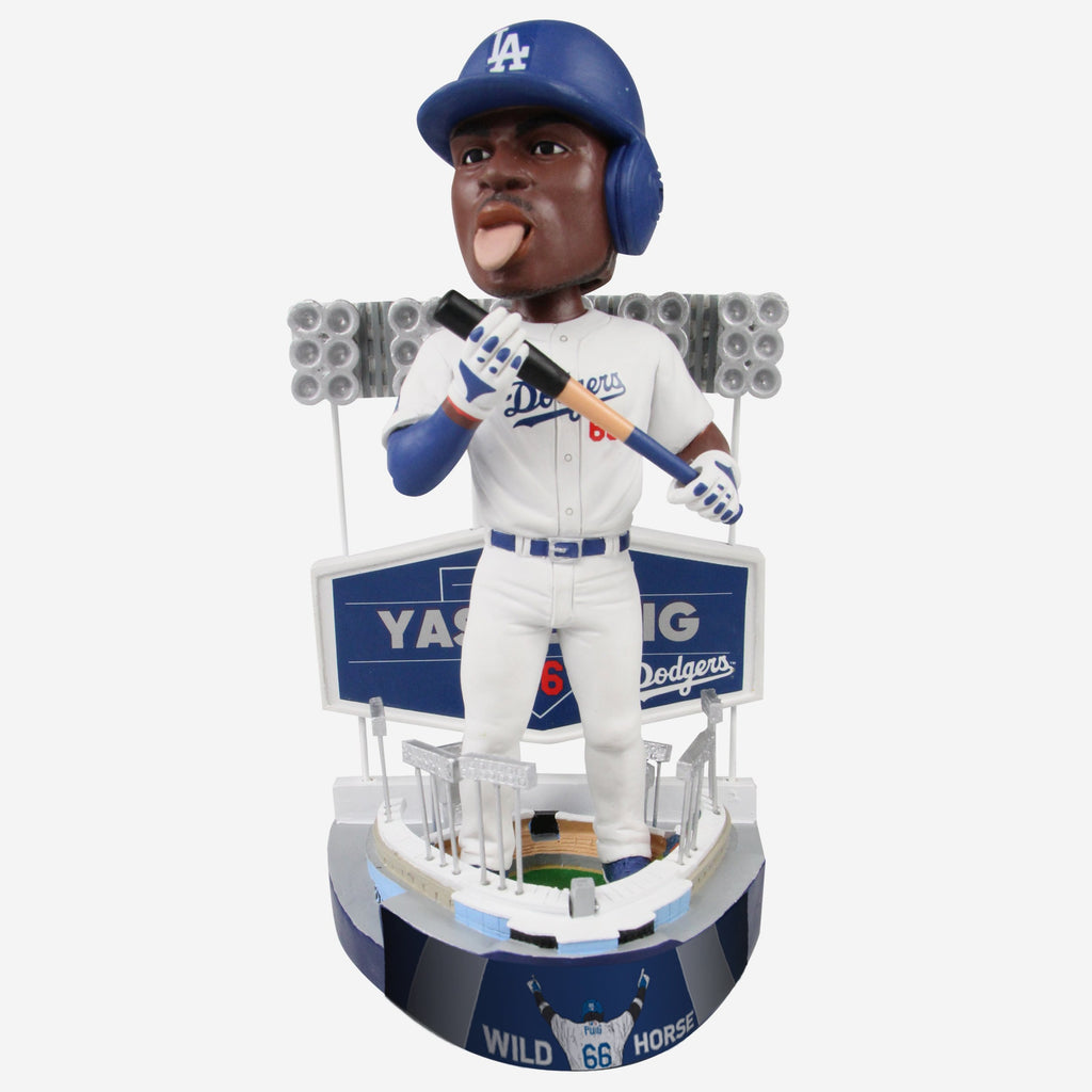 Yasiel Puig Los Angeles Dodgers Bat Licking Bobblehead FOCO - FOCO.com