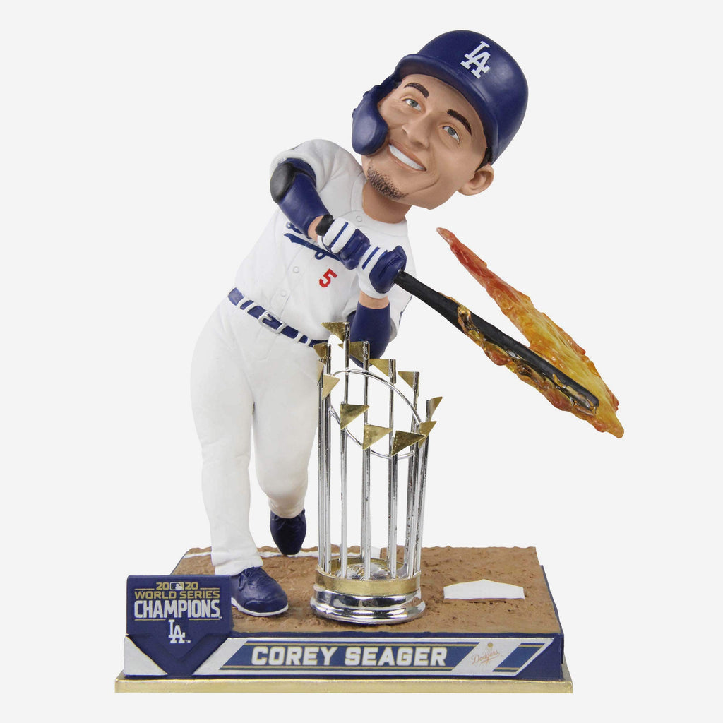 Corey Seager Los Angeles Dodgers 2020 World Series Champions Hot Bat Bobblehead FOCO - FOCO.com