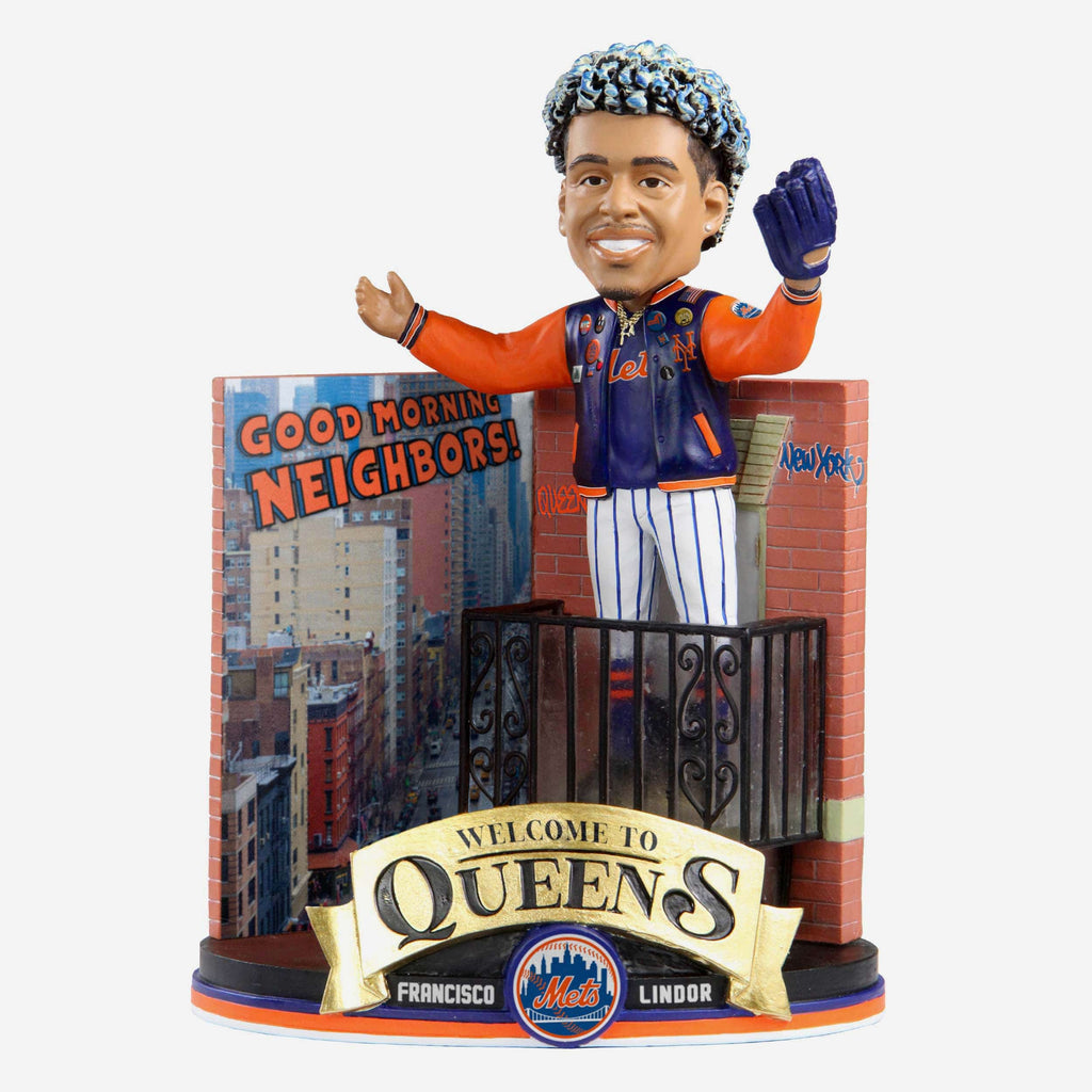 Francisco Lindor New York Mets Good Morning Neighbor Bobblehead FOCO - FOCO.com
