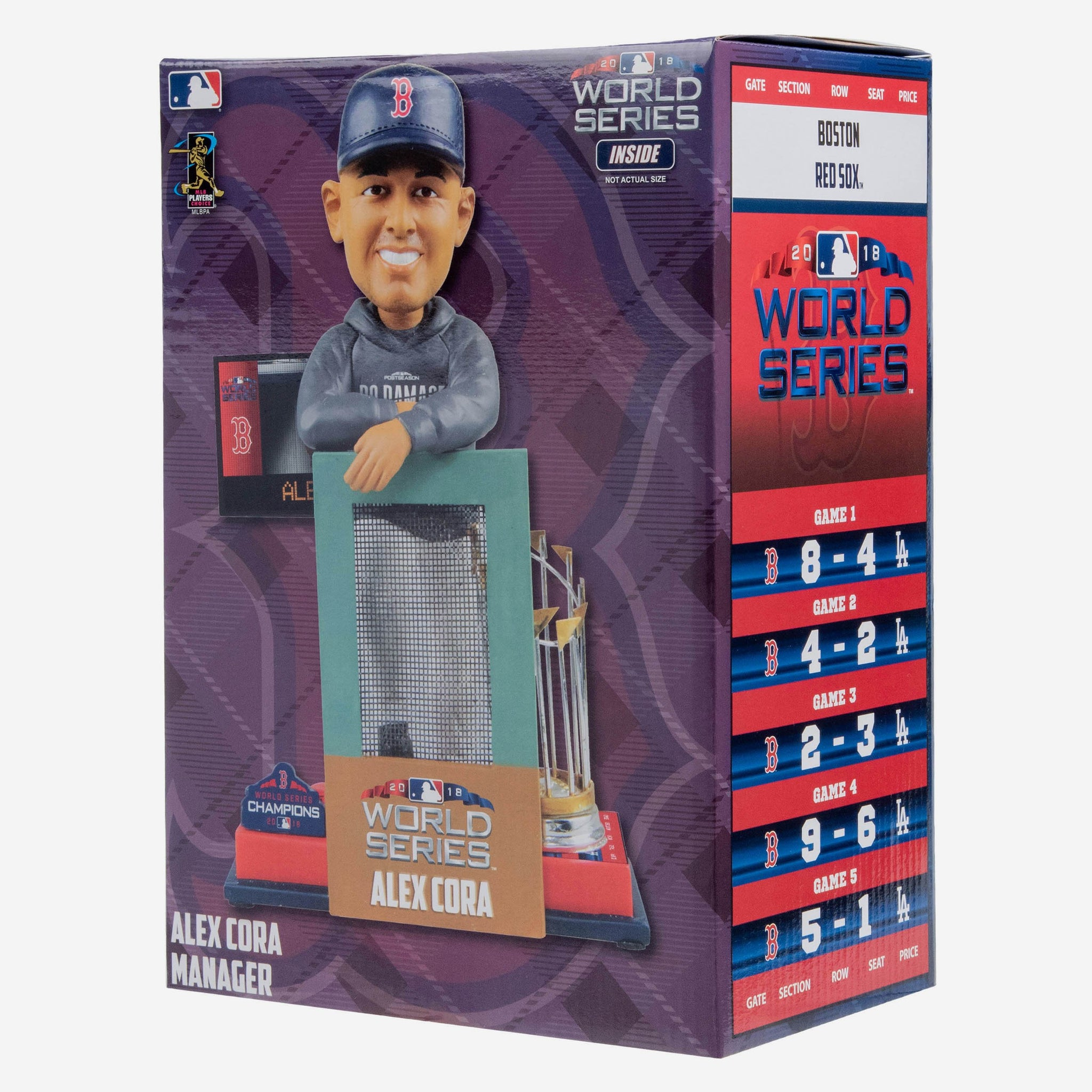 Alex Cora Boston Red Sox World Series Special Moment Bobblehead