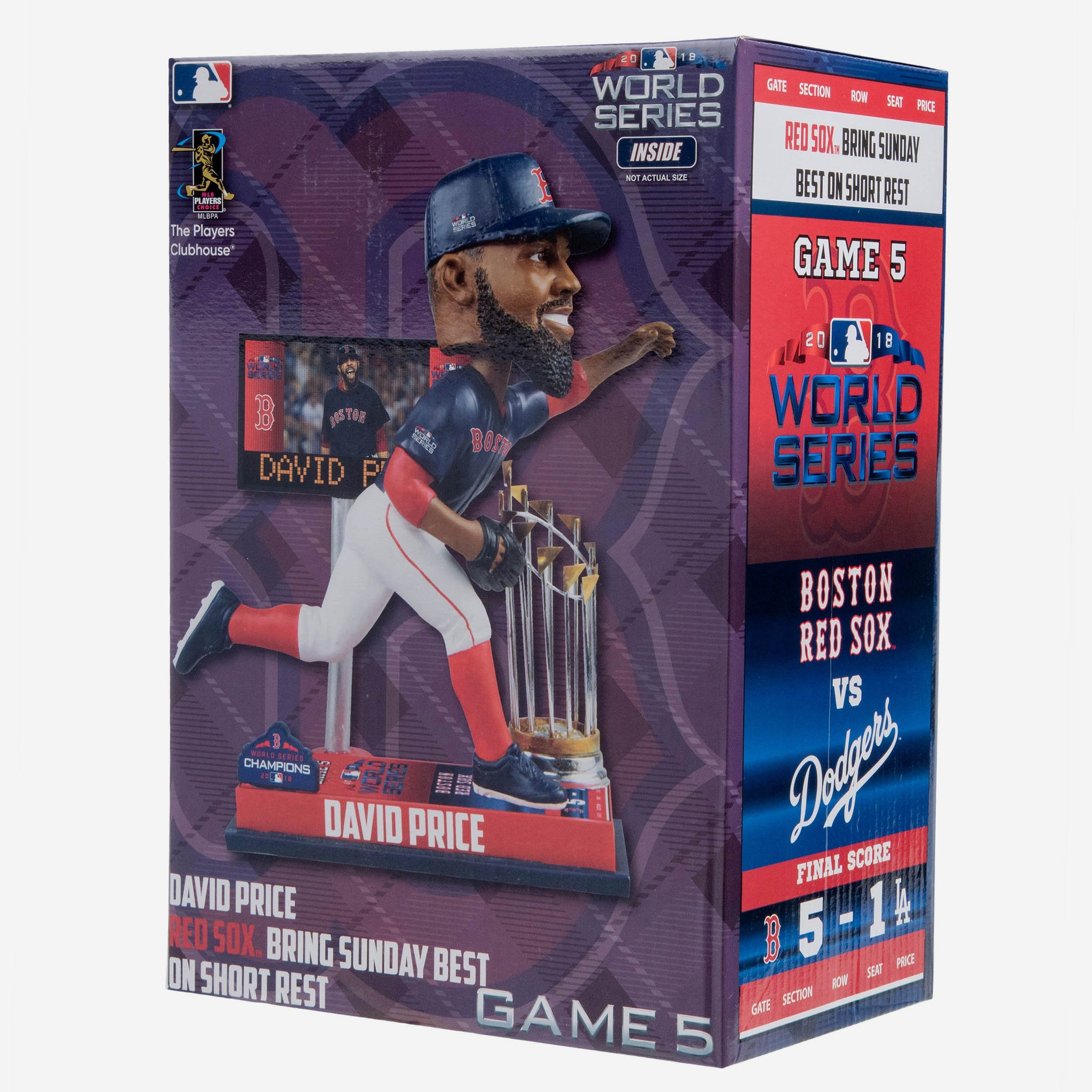 David Price Boston Red Sox World Series Special Moment Bobblehead FOCO - FOCO.com