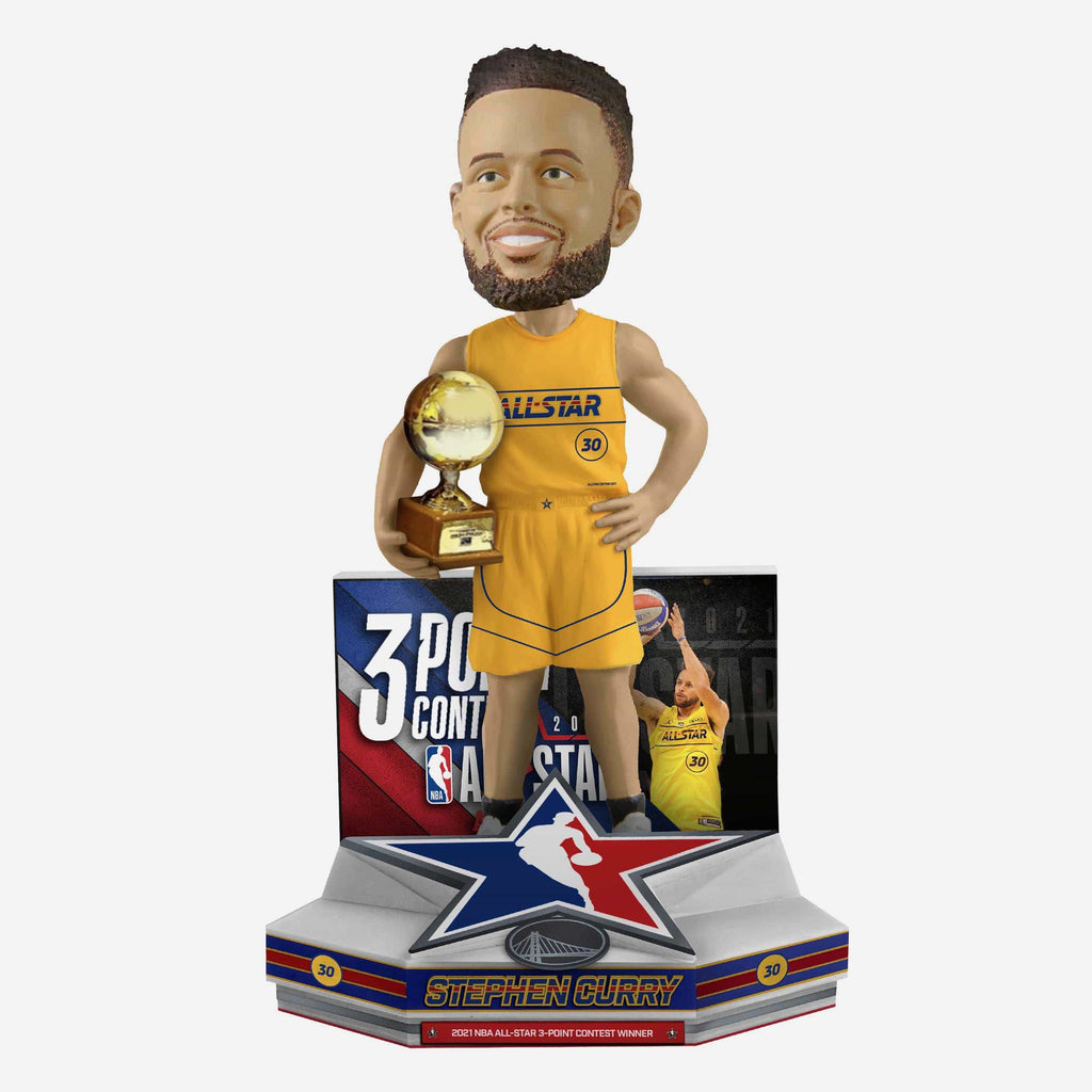 Steph Curry Golden State Warriors 2021 NBA All-Star 3 Point Champion Bobblehead FOCO - FOCO.com
