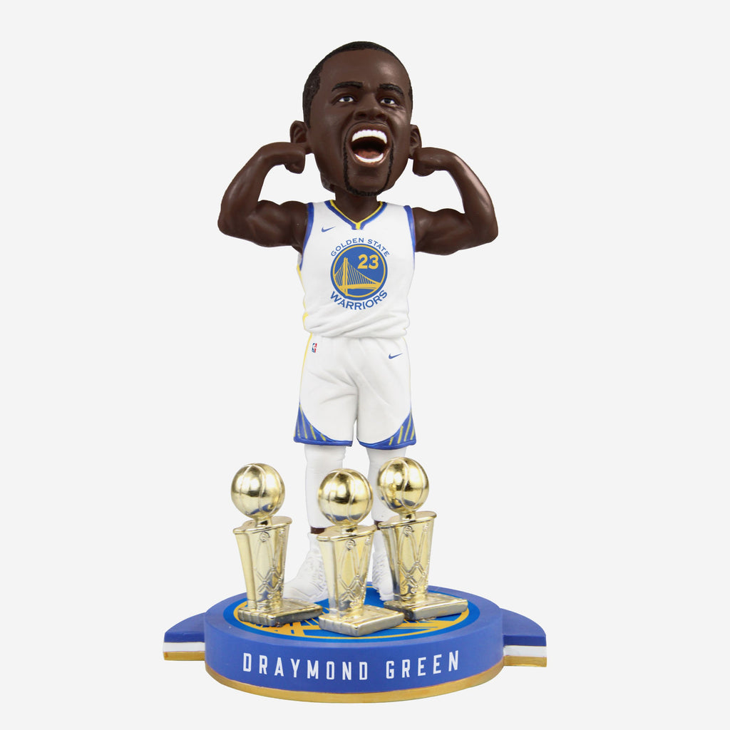 Draymond Green Golden State Warriors 3-Time Champ Bobblehead FOCO - FOCO.com