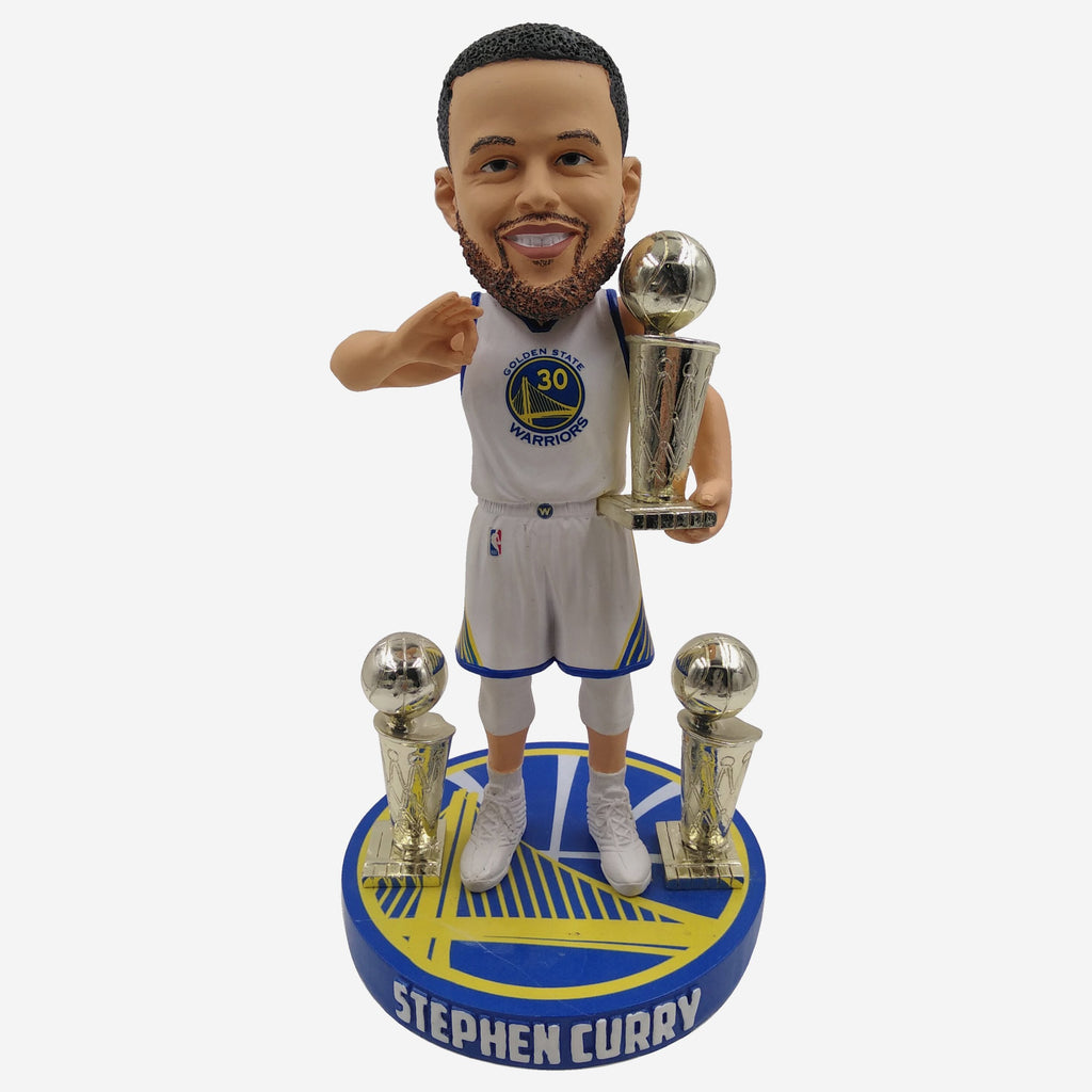 Steph Curry Golden State Warriors 3 Time Champ Bobblehead FOCO - FOCO.com