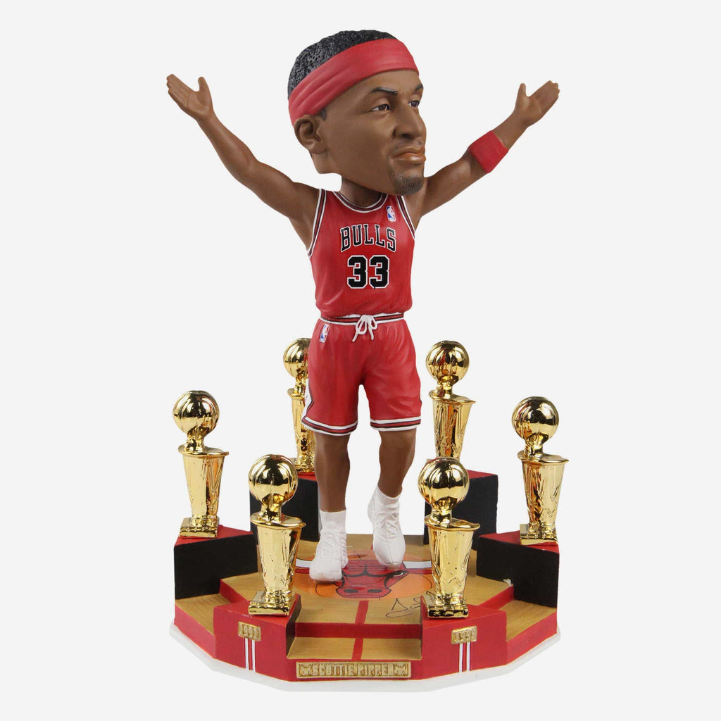 Scottie Pippen Chicago Bulls 6X NBA Champion Bobblehead FOCO - FOCO.com