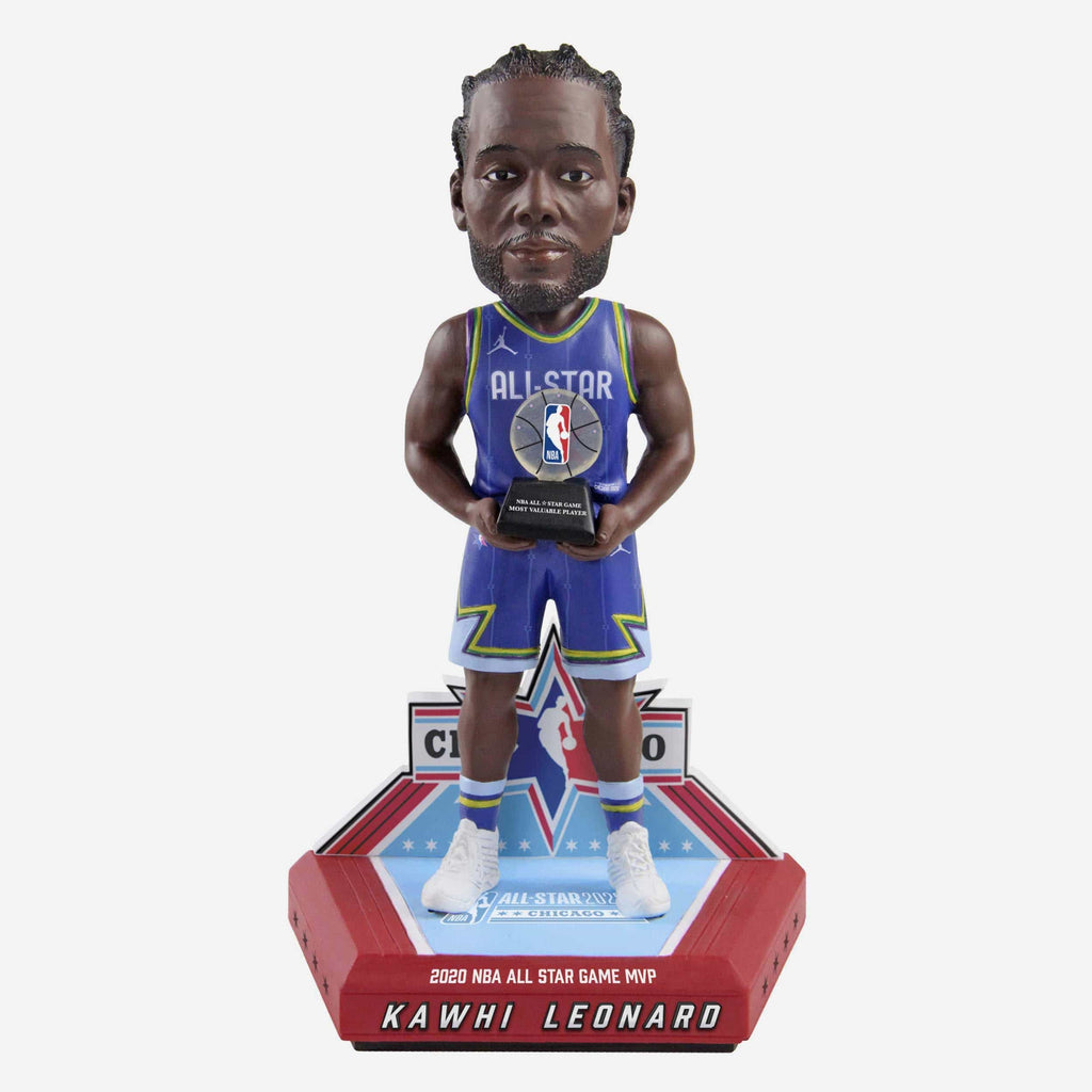 Kawhi Leonard Los Angeles Clippers 2020 All-Star Game MVP Bobblehead FOCO - FOCO.com