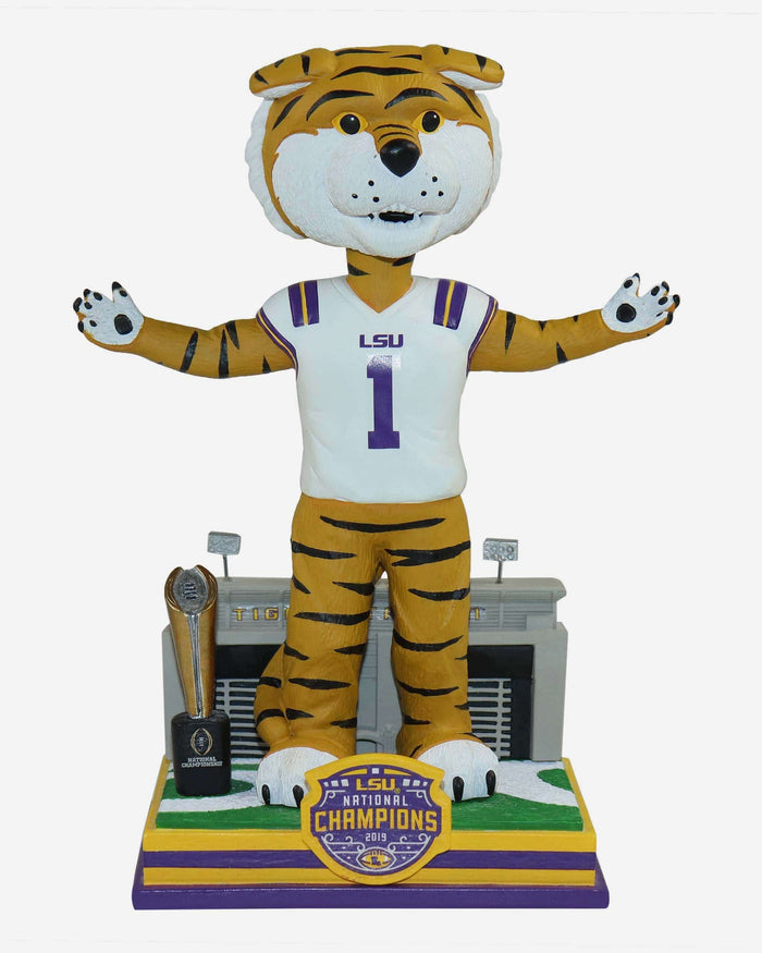Mike The Tiger LSU Tigers 2019 Football National Champions Bobblehead FOCO - FOCO.com