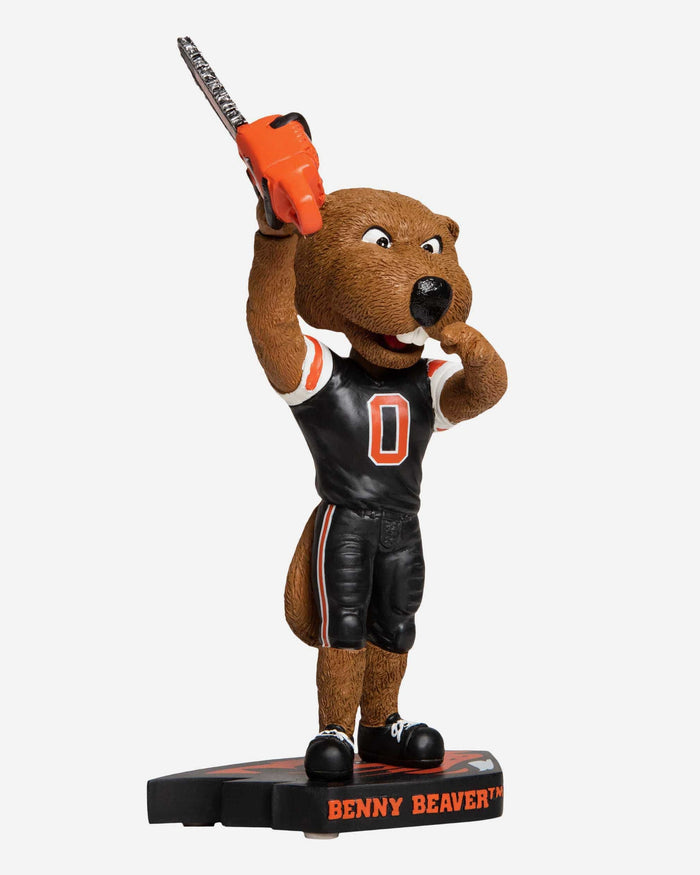 Benny Beaver Oregon State Beavers Turnover Chainsaw Bobblehead FOCO - FOCO.com