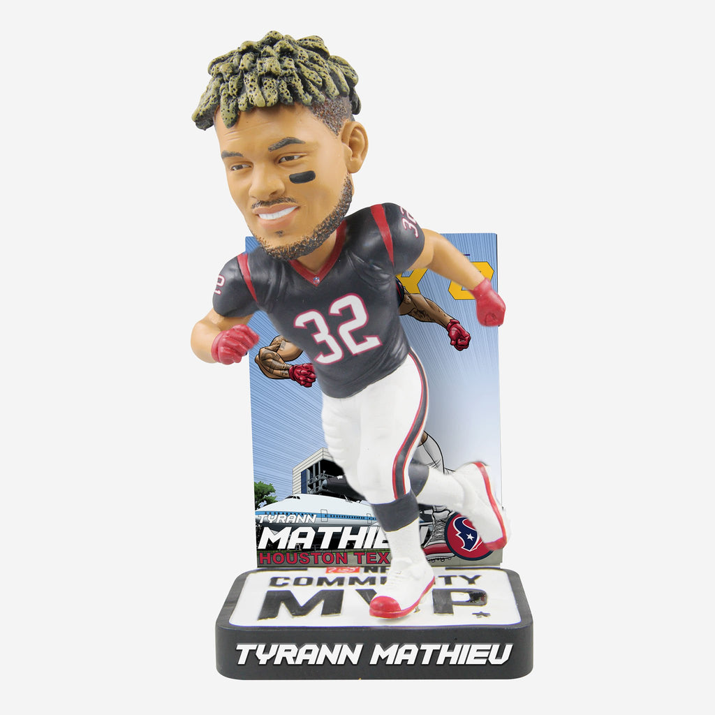 Tyrann Mathieu Houston Texans 2018 Community MVP Award Bobblehead FOCO - FOCO.com