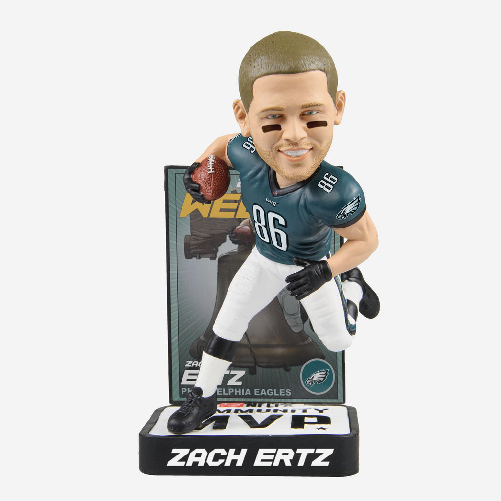 Zach Ertz Philadelphia Eagles 2018 Community MVP Award Bobblehead FOCO - FOCO.com