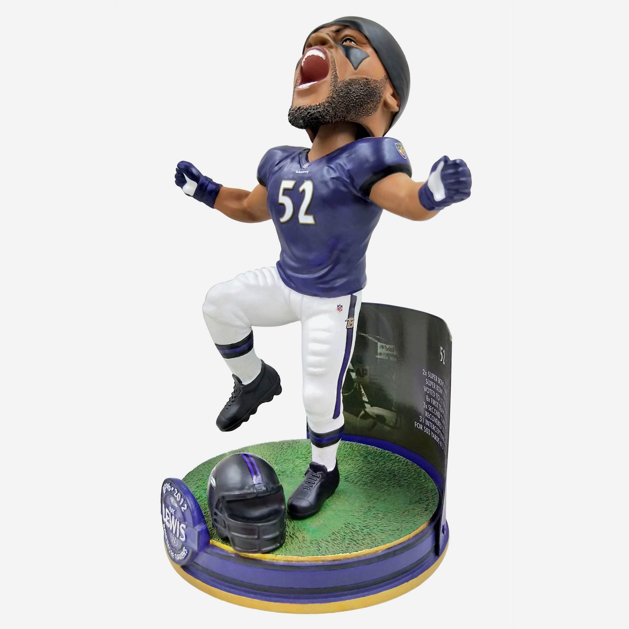 Ray Lewis Baltimore Ravens NFL Career Stats Bobblehead FOCO - FOCO.com