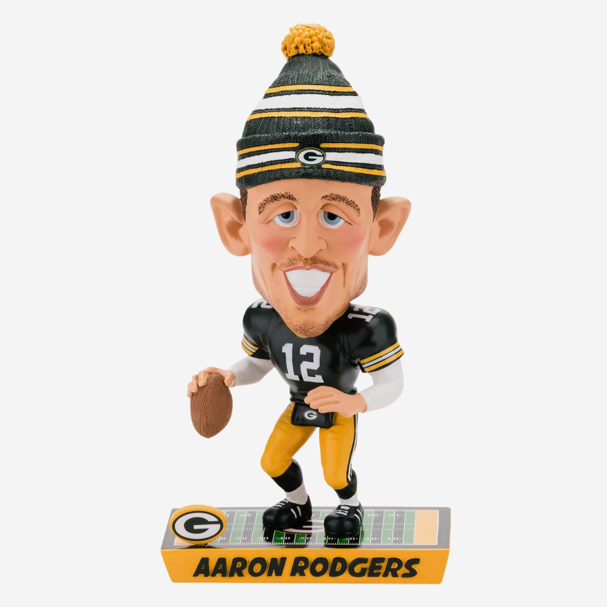 Aaron Rodgers Green Bay Packers Caricature Bobblehead FOCO - FOCO.com