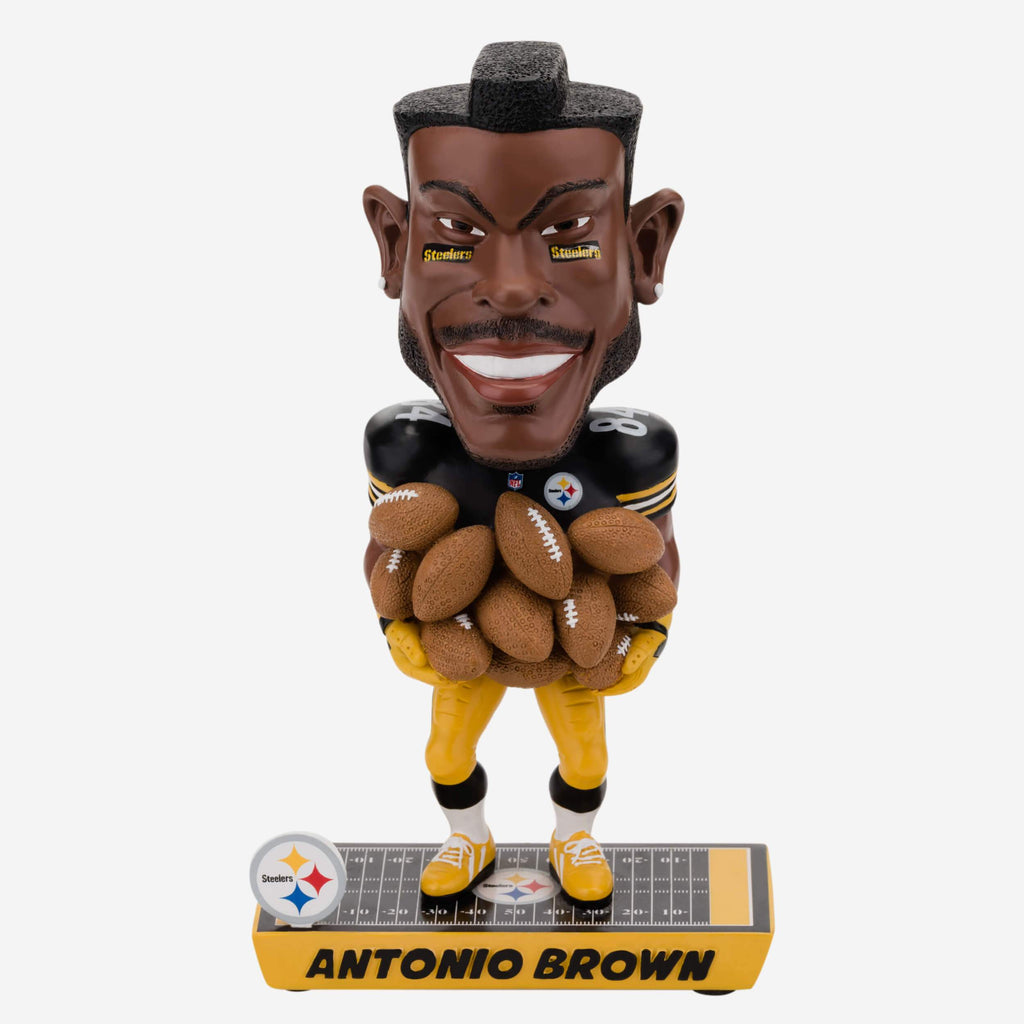 Antonio Brown Pittsburgh Steelers Caricature Bobblehead FOCO - FOCO.com