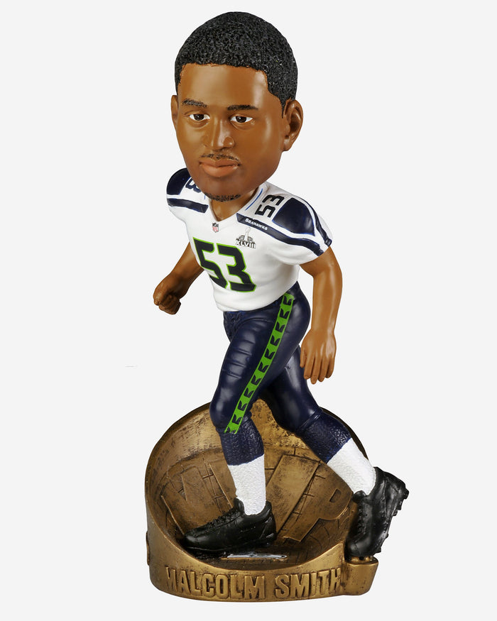 Malcom Smith Seattle Seahawks Super Bowl 48 MVP Bobblehead FOCO - FOCO.com