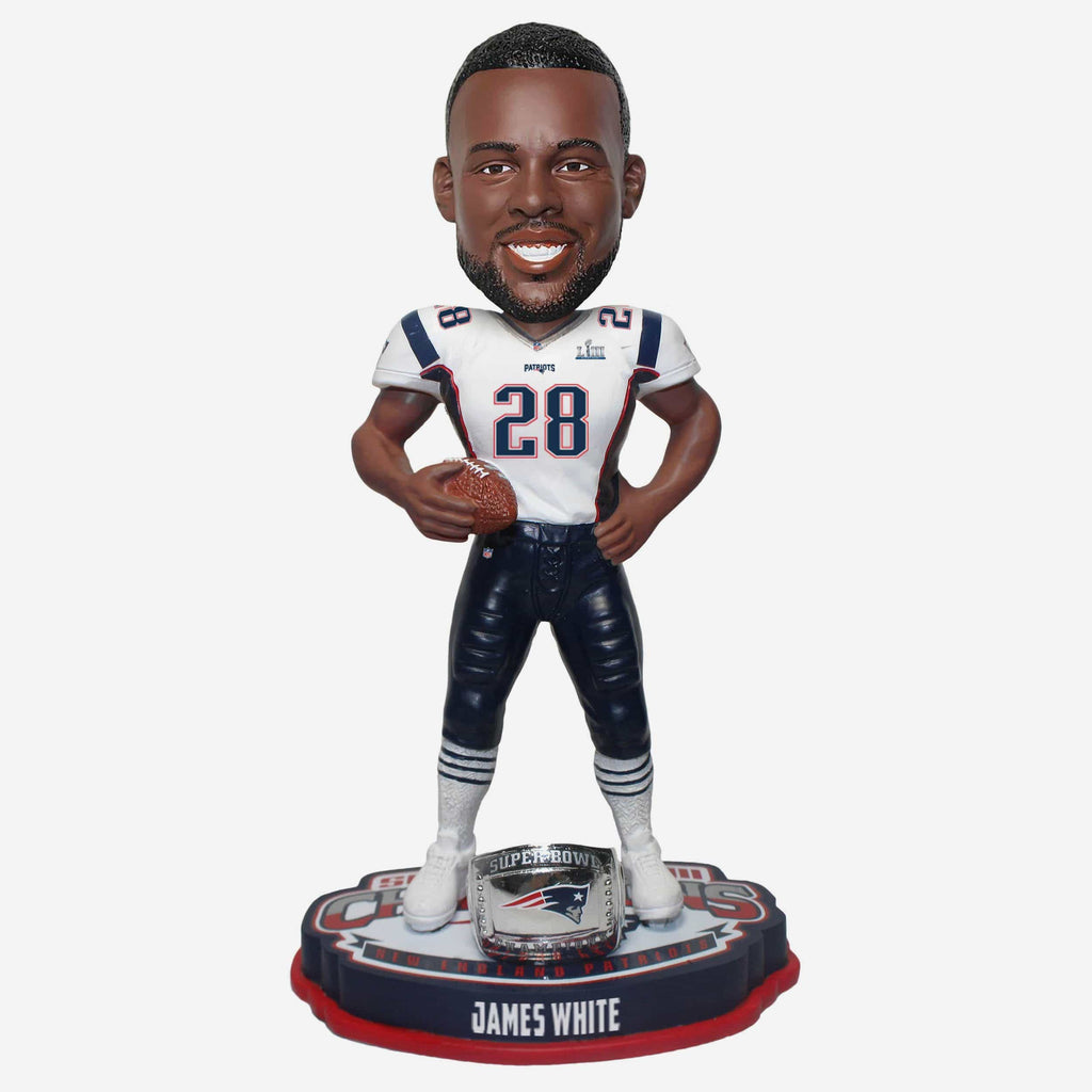 James White New England Patriots Super Bowl LIII Champions Bobblehead FOCO - FOCO.com