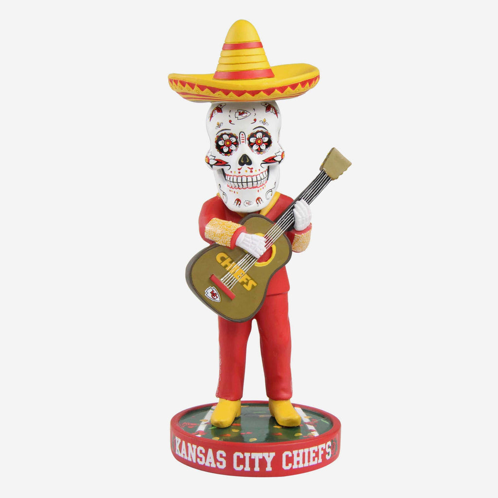 Kansas City Chiefs Day Of The Dead Bobblehead FOCO - FOCO.com