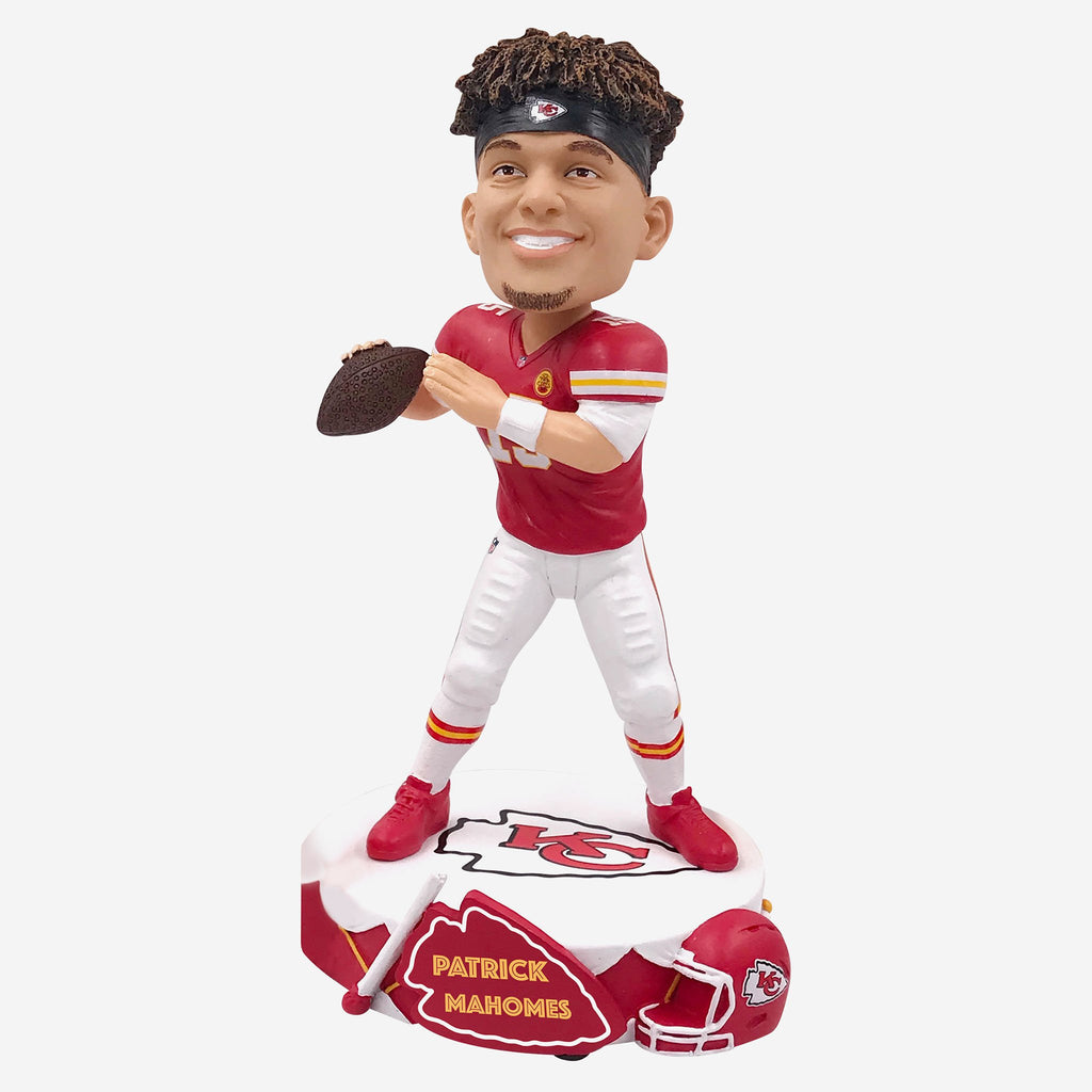 Patrick Mahomes Kansas City Chiefs Drum Base Bobblehead FOCO - FOCO.com