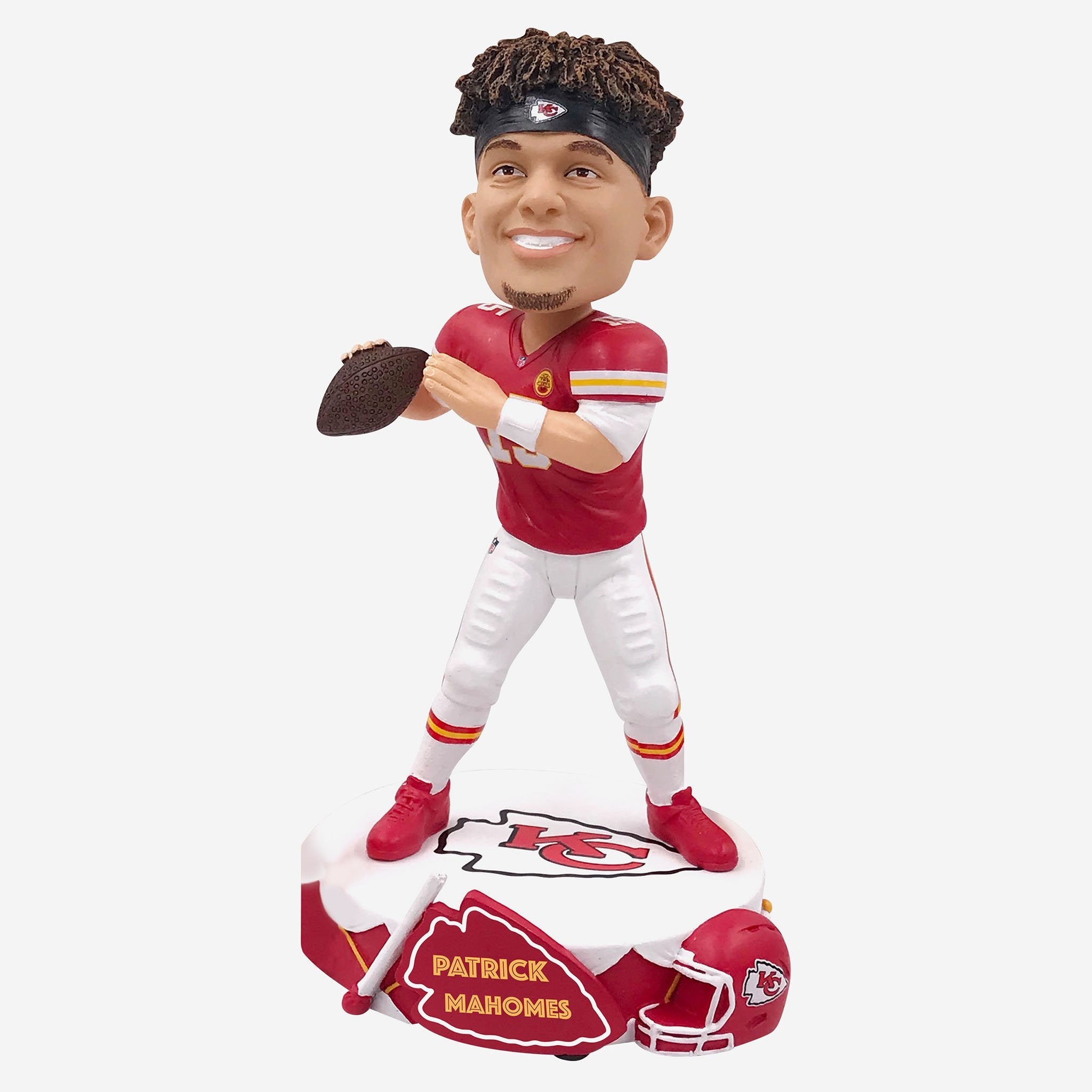 Patrick Mahomes Kansas City Chiefs Drum Base Bobblehead
