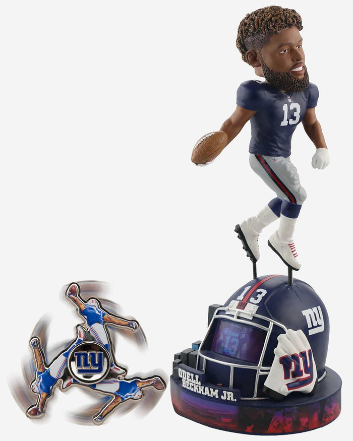 Odell Beckham Jr New York Giants Bobblehead & Diztracto Spinnerz FOCO - FOCO.com