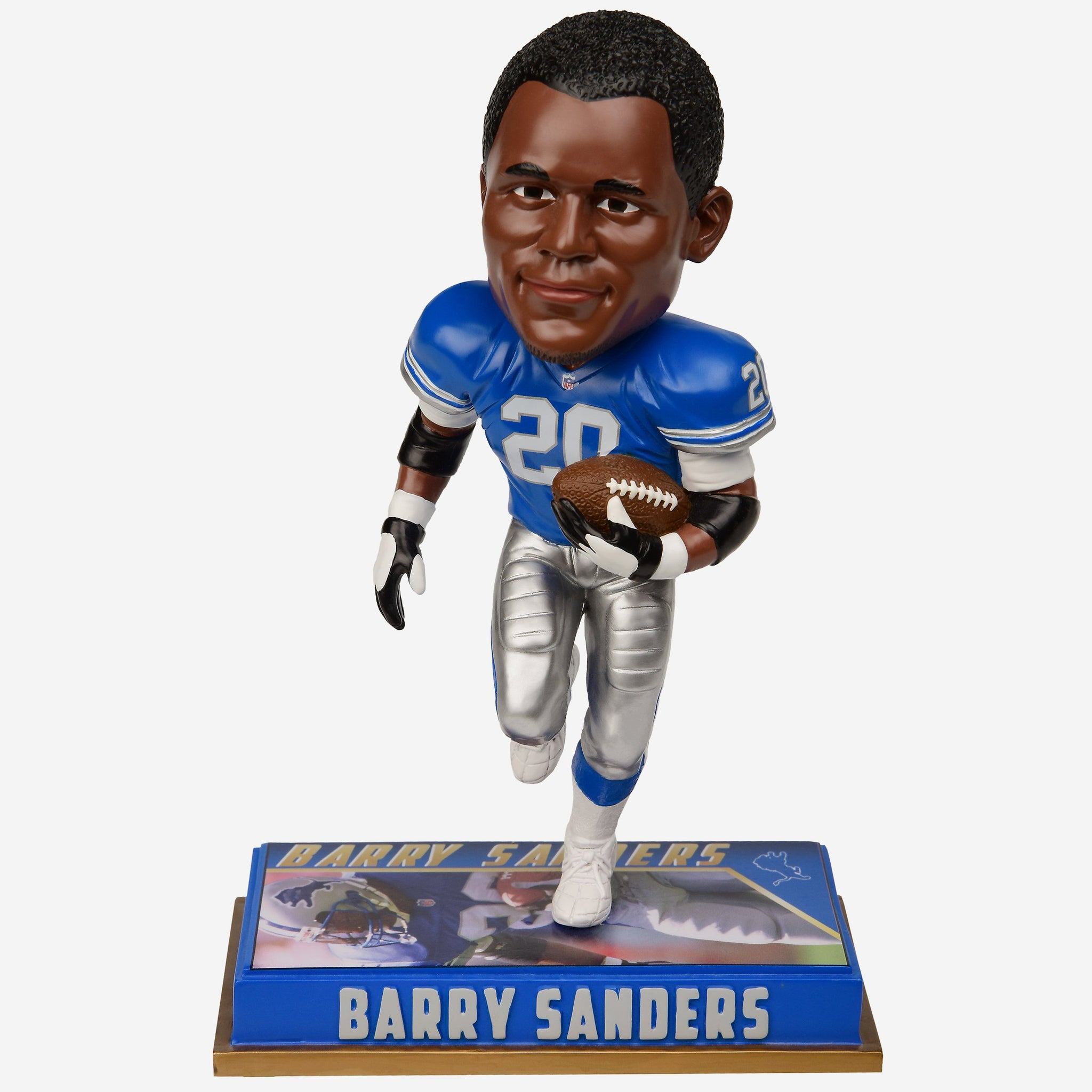 Barry Sanders Detroit Lions Retired Bobblehead