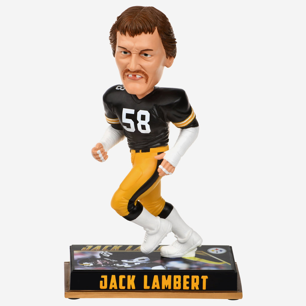 Jack Lambert Pittsburgh Steelers Retired Bobblehead FOCO - FOCO.com