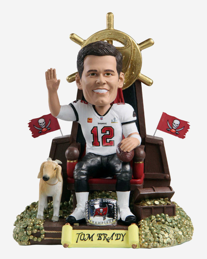 Tom Brady Tampa Bay Buccaneers 7x Super Bowl Champion Thematic Bobblehead FOCO - FOCO.com