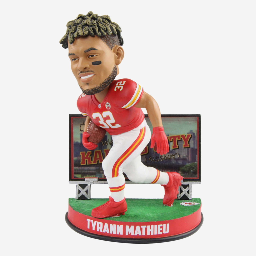 Tyrann Mathieu Kansas City Chiefs Billboard Bobblehead FOCO - FOCO.com