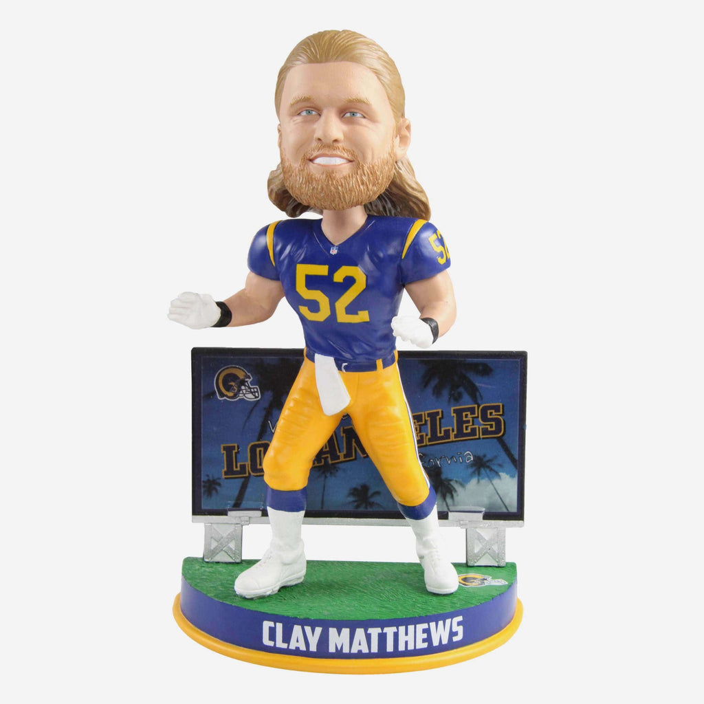 Clay Matthews Los Angeles Rams Billboard Bobblehead FOCO - FOCO.com