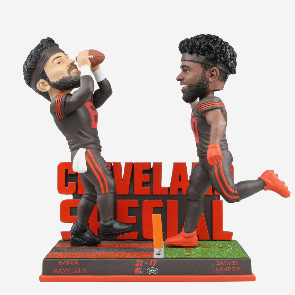 Baker Mayfield And Jarvis Landry Cleveland Browns Cleveland Special Bobblehead