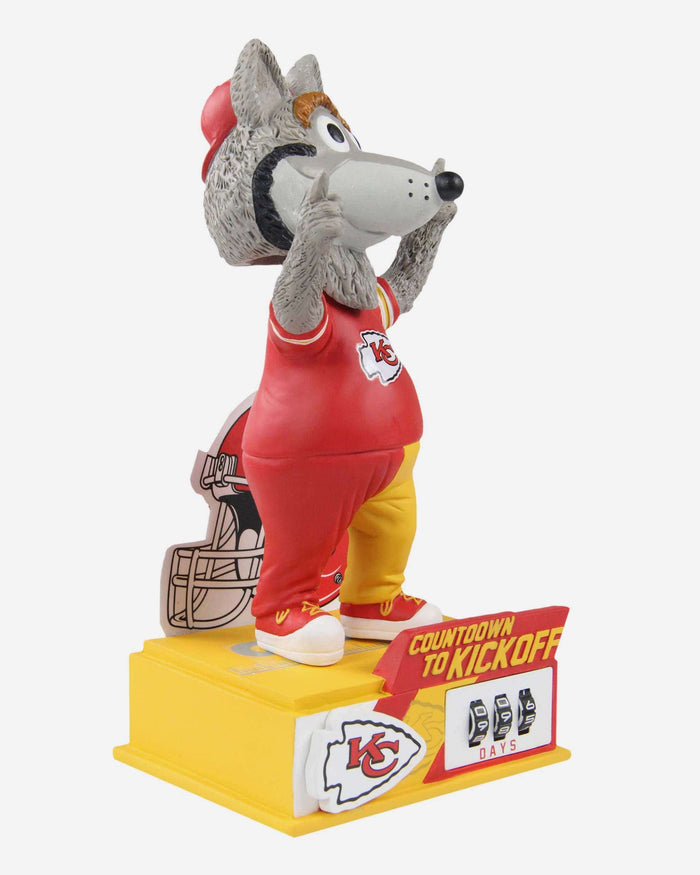 KC Wolf Kansas City Chiefs Countdown To Kickoff Mascot Bobblehead FOCO - FOCO.com