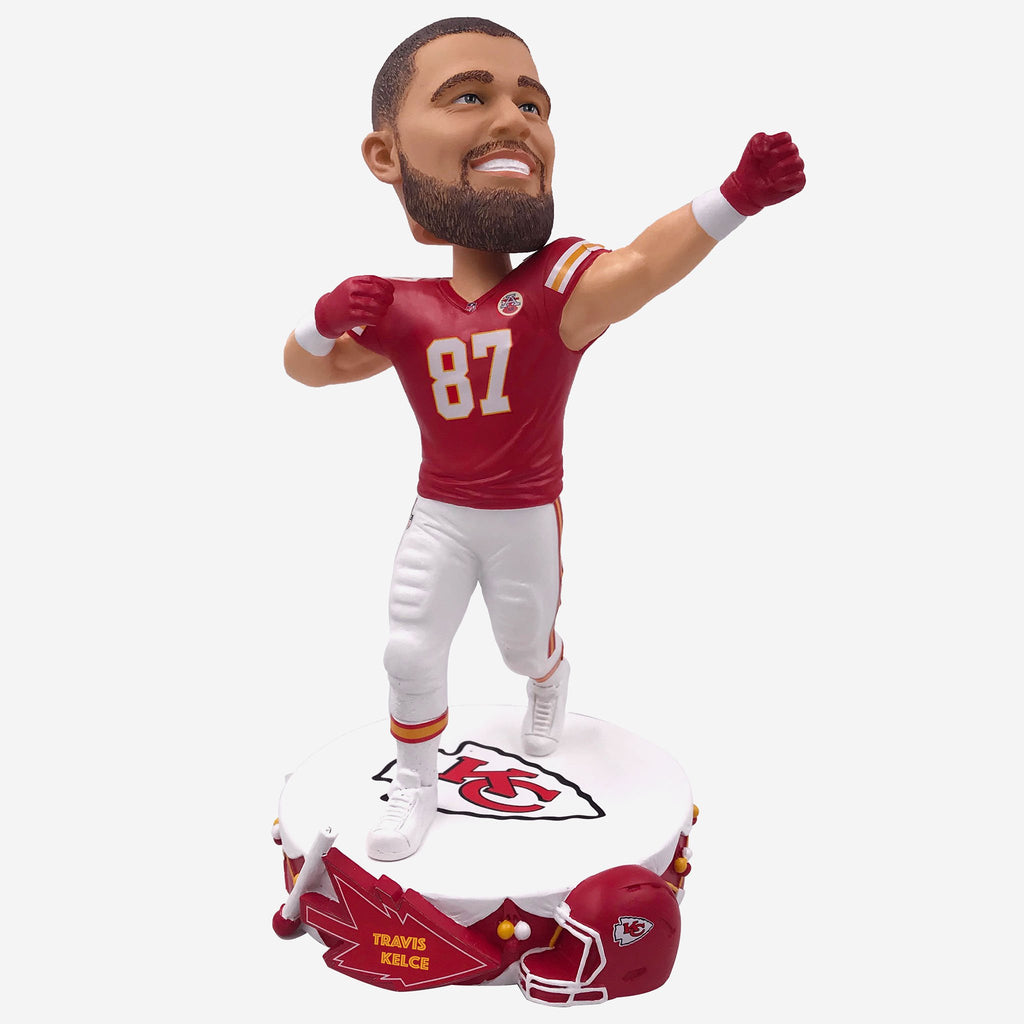 Travis Kelce Kansas City Chiefs Drum Base Bobblehead FOCO - FOCO.com