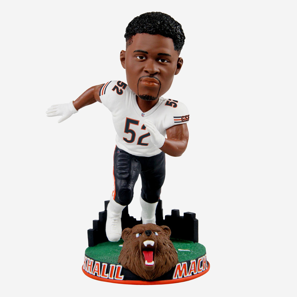 Khalil Mack Chicago Bears City Skyline Bobblehead FOCO - FOCO.com