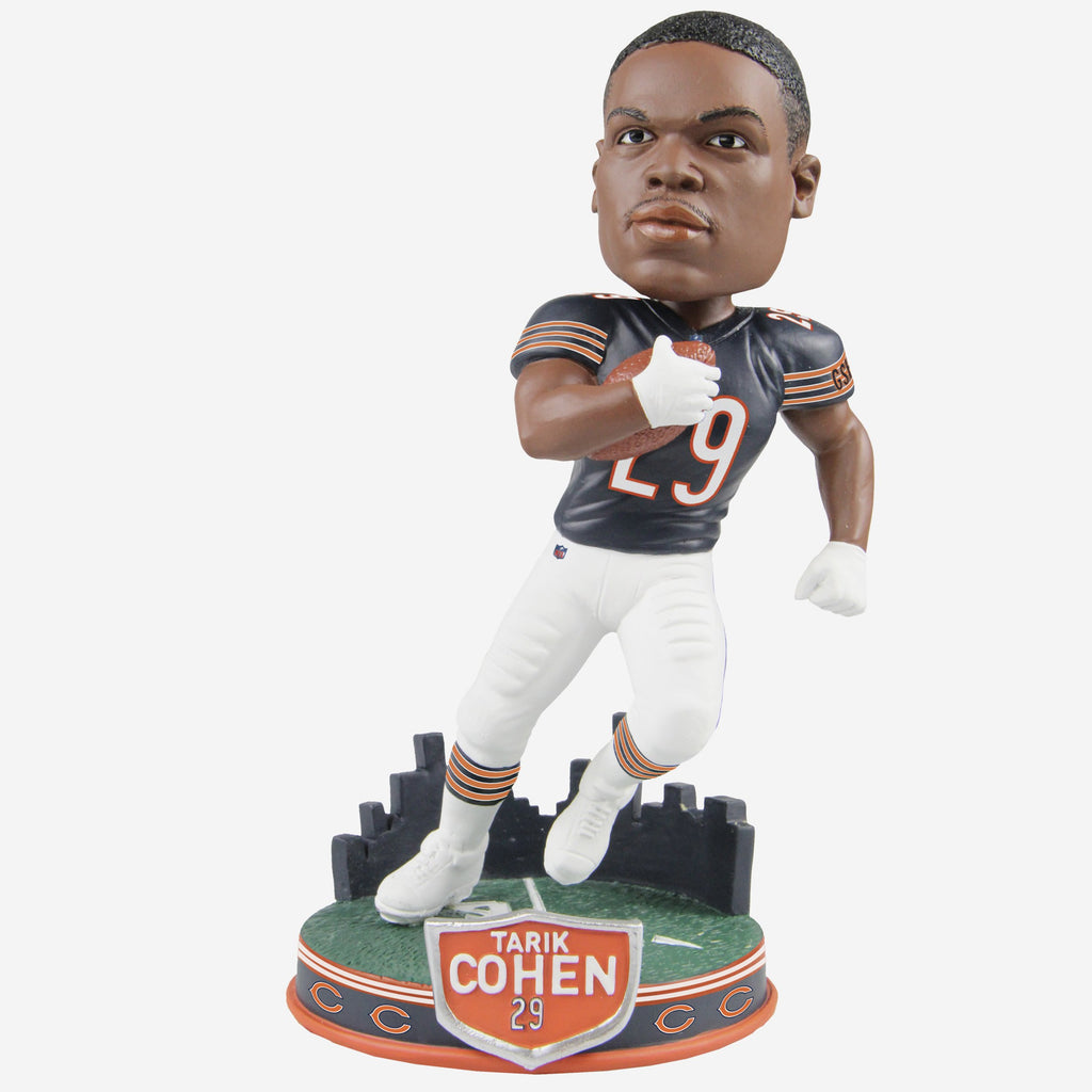 Tarik Cohen Chicago Bears City Skyline Bobblehead FOCO - FOCO.com