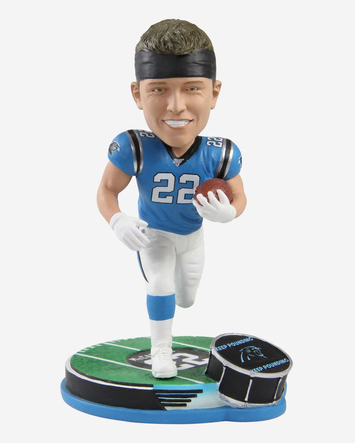 Christian McCaffrey Carolina Panthers Thematic Bobblehead FOCO - FOCO.com