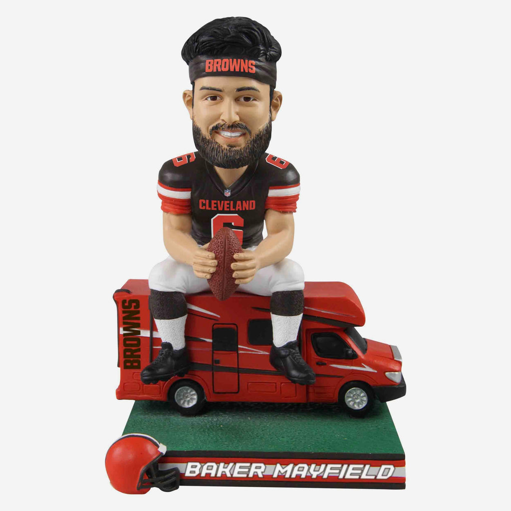 Baker Mayfield Cleveland Browns Bus Bobblehead FOCO - FOCO.com