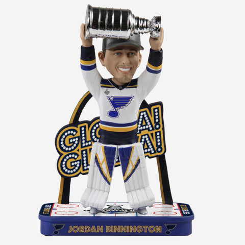 Jordan Binnington St Louis Blues Gloria Gloria Bobblehead