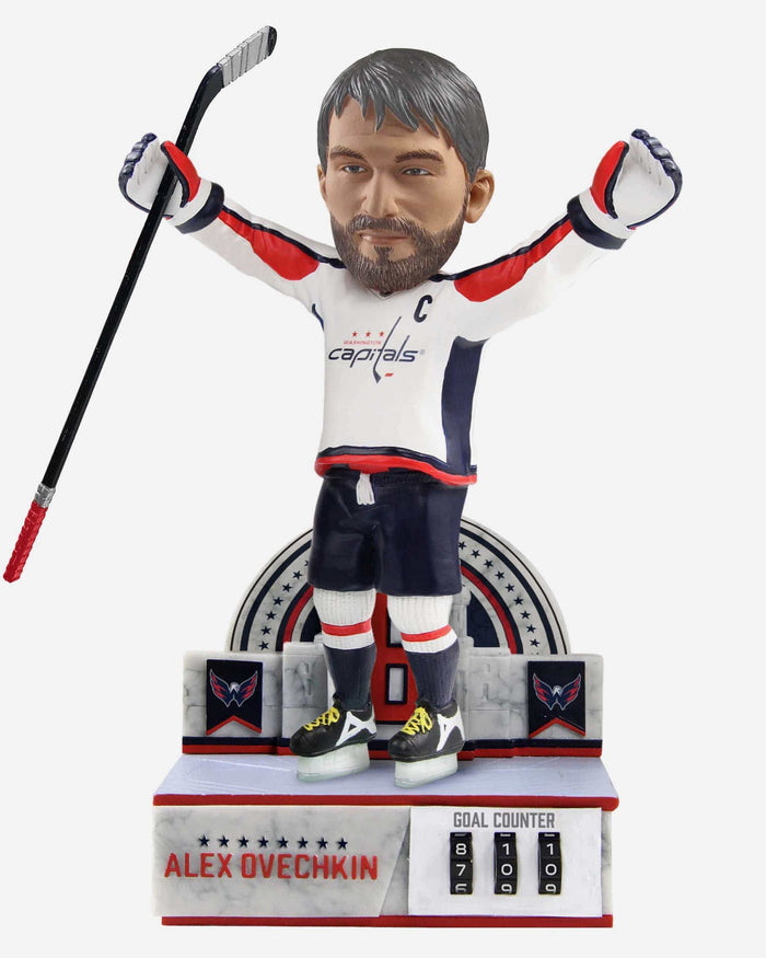 Alexander Ovechkin Washington Capitals Celebration Goal Counter Bobblehead FOCO - FOCO.com