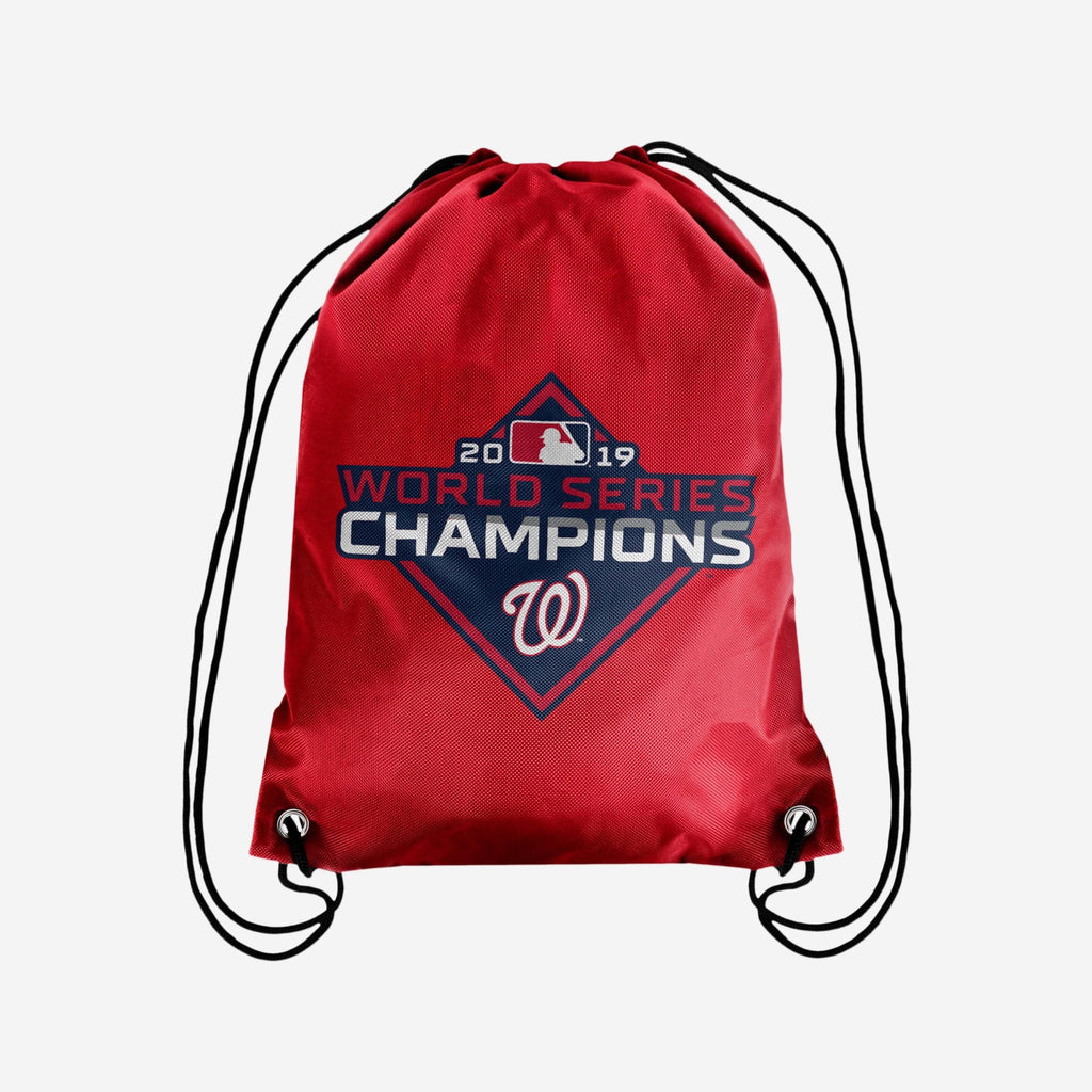 Washington Nationals 2019 World Series Champions Big Logo Drawstring Backpack FOCO - FOCO.com