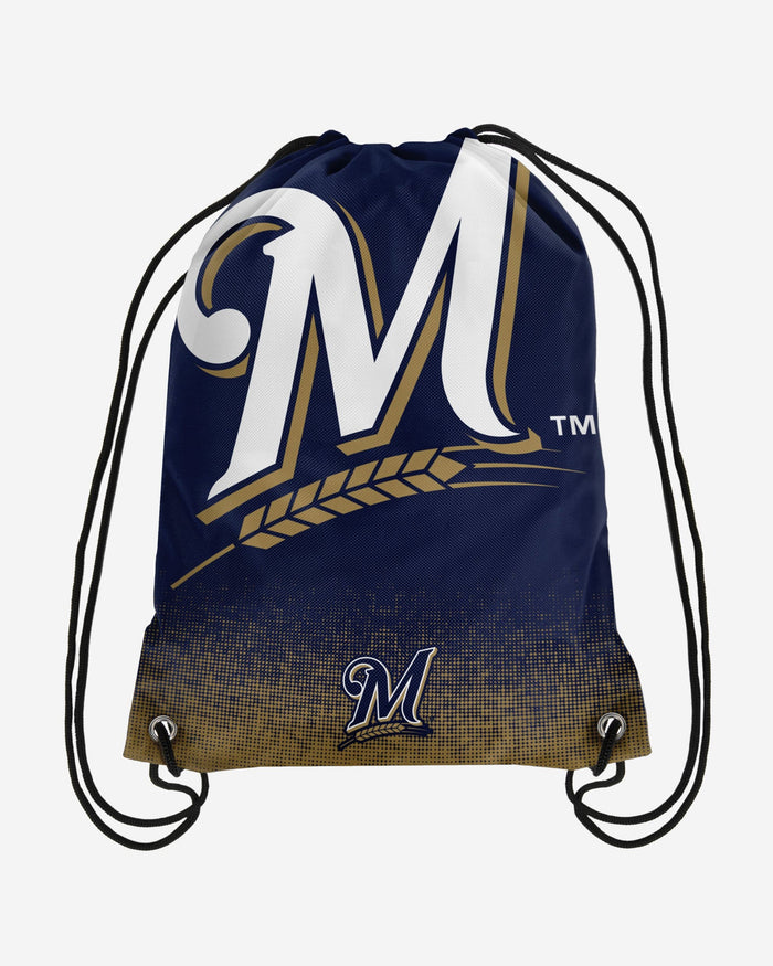 Milwaukee Brewers Gradient Drawstring Backpack FOCO - FOCO.com