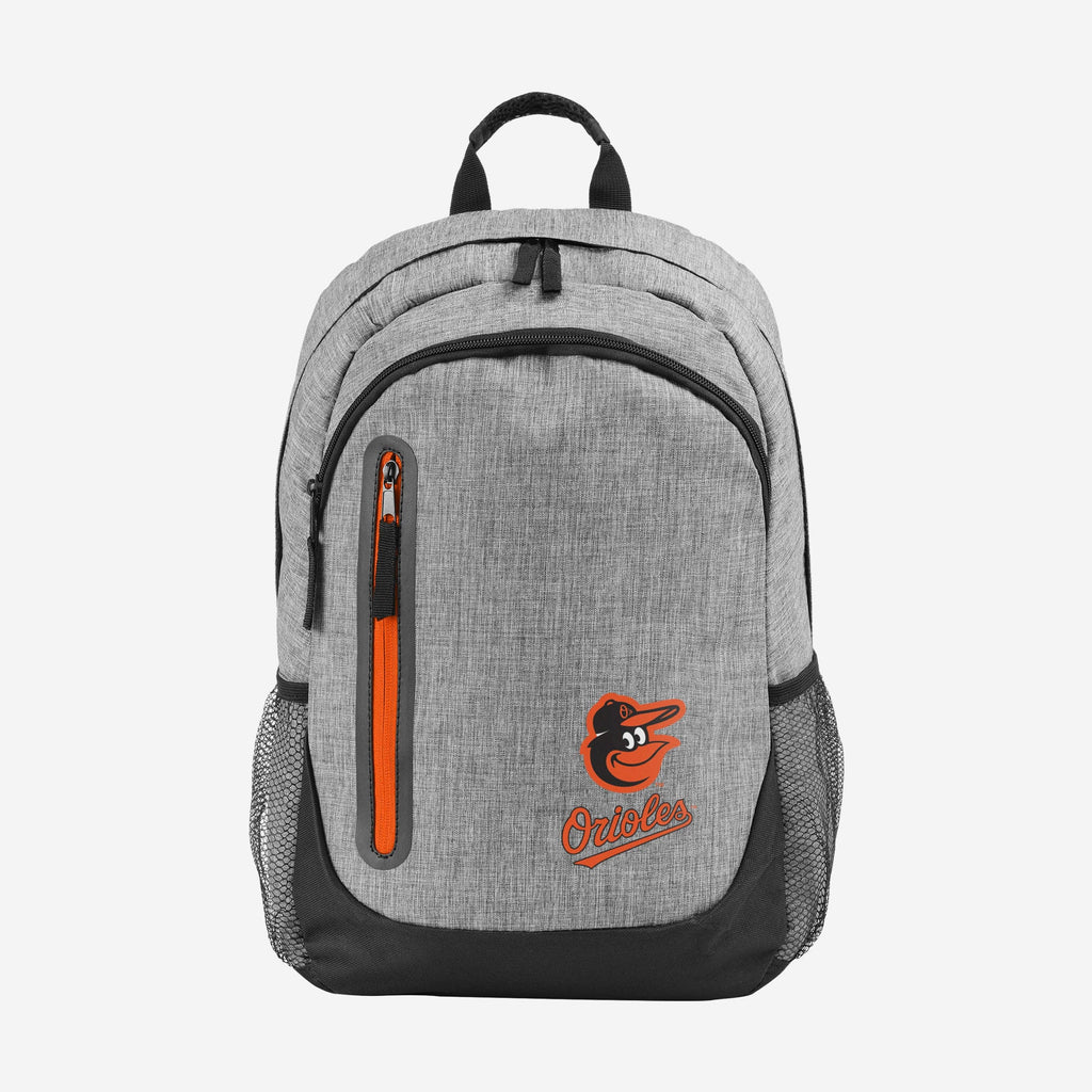 Baltimore Orioles Heather Grey Bold Color Backpack