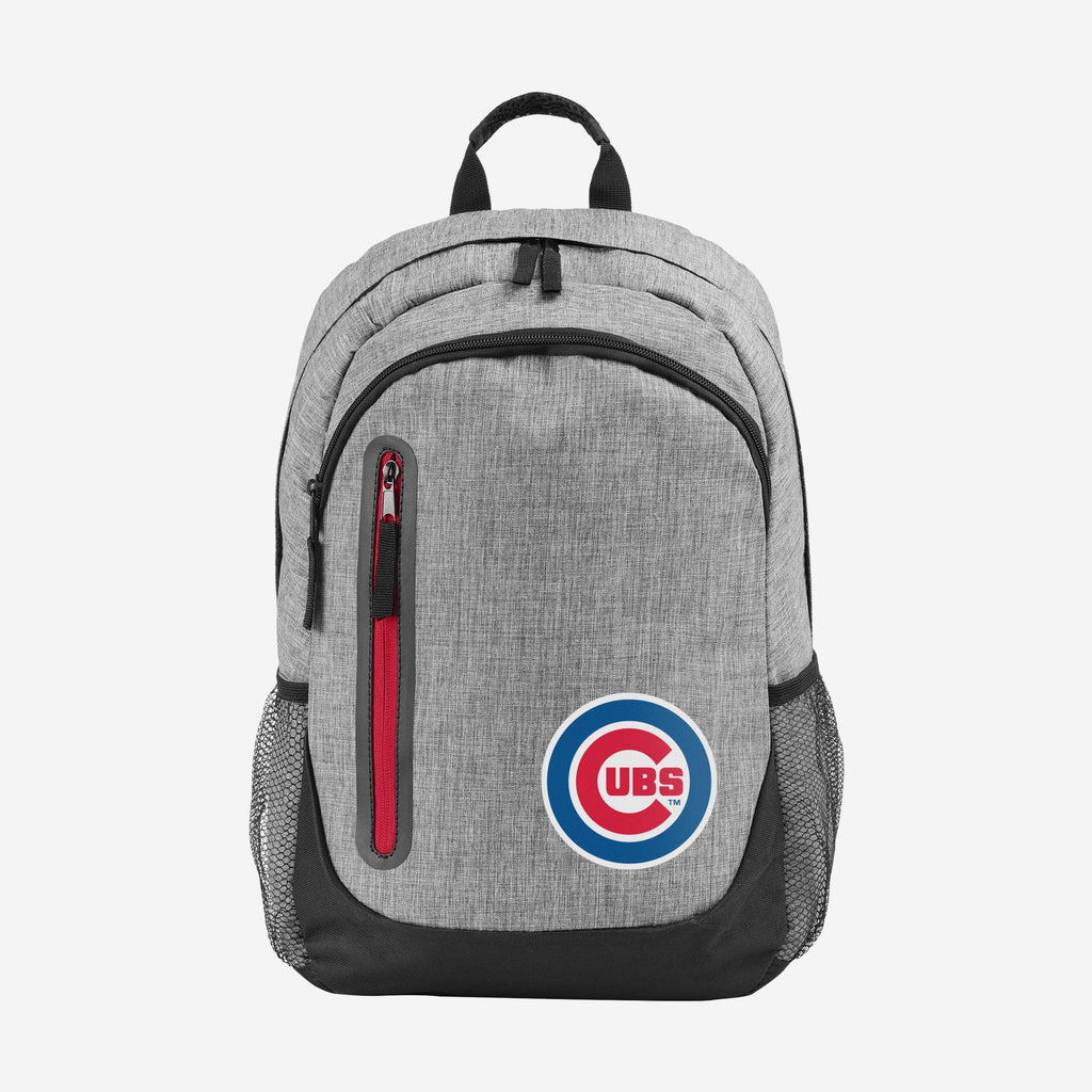 Chicago Cubs Heather Grey Bold Color Backpack