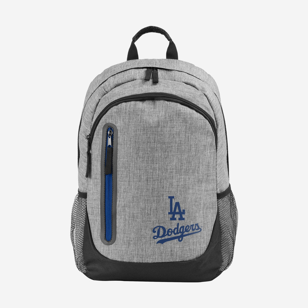 Los Angeles Dodgers Heather Grey Bold Color Backpack FOCO - FOCO.com