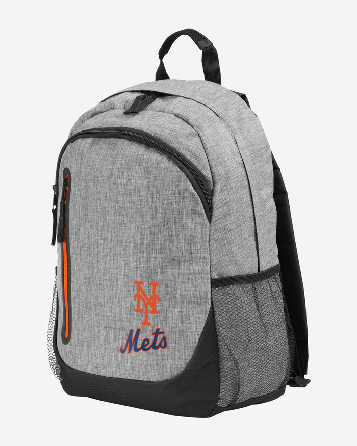 New York Mets Heather Grey Bold Color Backpack FOCO - FOCO.com