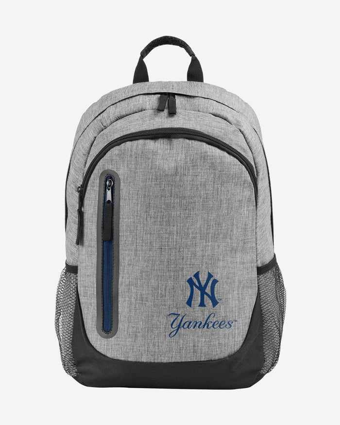 New York Yankees Heather Grey Bold Color Backpack FOCO - FOCO.com