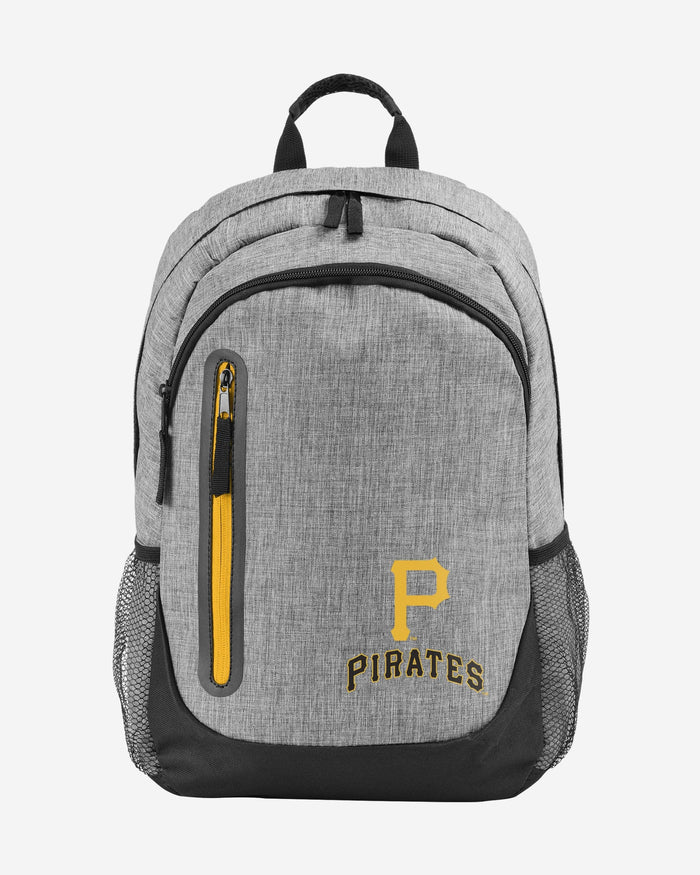 Pittsburgh Pirates Heather Grey Bold Color Backpack FOCO - FOCO.com