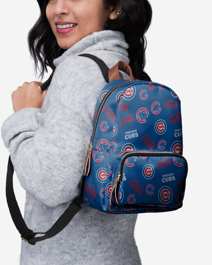 Chicago Cubs Printed Collection Mini Backpack FOCO - FOCO.com