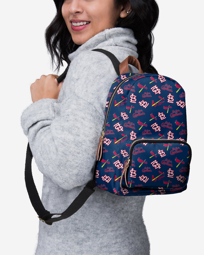 St Louis Cardinals Printed Collection Mini Backpack FOCO - FOCO.com